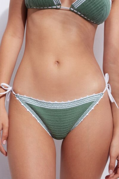 Calzedonia String Bottom Capo Verde Woman Green Size 3 Swimsuit
