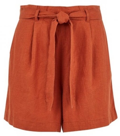 Dorothy Perkins Rust Paperbag Short