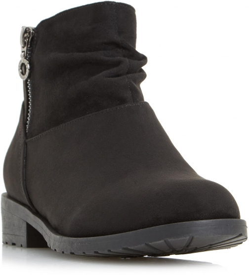 Head Over Heels Perci Ruched Ankle Boot