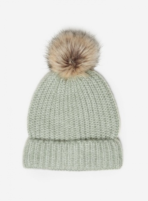 Dorothy Perkins Green Pom Pom Hat