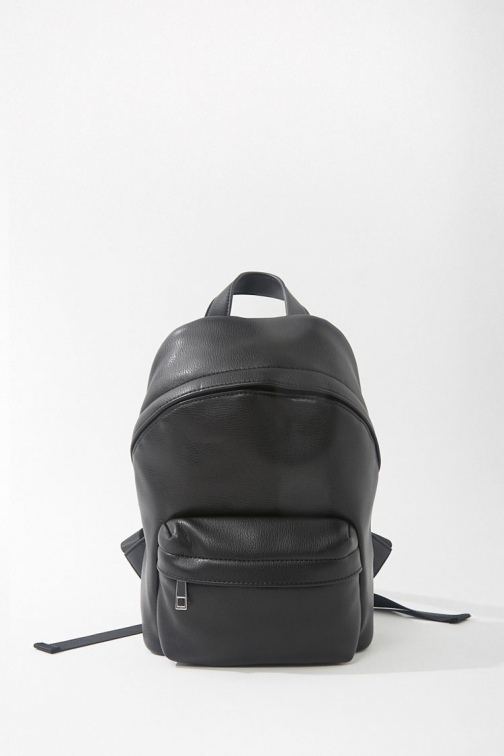 Forever21 Faux Leather Mini At Forever 21 , Black Backpack
