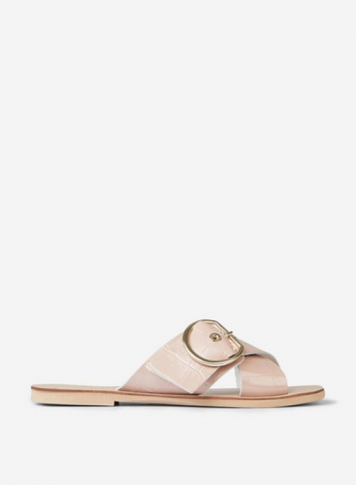 Dorothy Perkins Pink Leather 'Jayjay' Pink Sandals