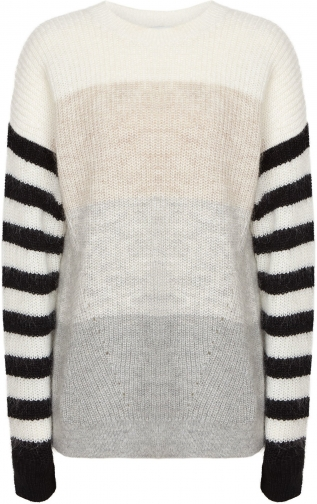 Reiss Haidee - Striped Chunky Knitted Multi, Womens, Size L Jumper