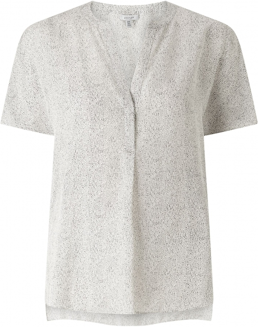Jigsaw Dashed Lines Silk Blouse