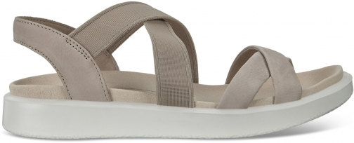 Ecco Flowt Womens Flat Strappy Size 4 Grey Rose Sandals