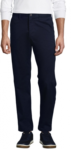 Lands' End Men's Stretch Straight Fit Flannel Lined Knockabout Pants - Lands' End - Blue - 30 Chino