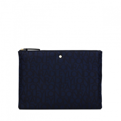 Radley Signature Jacquard Large Tech Pouch
