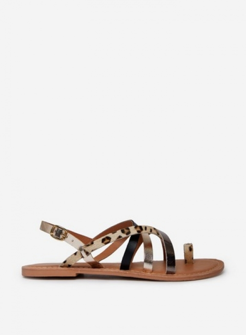 Dorothy Perkins Multi Coloured 'Josette' Animal Print Strap Sandals
