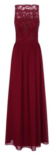 Chi Chi London Burgundy Embroidered Maxi Dress