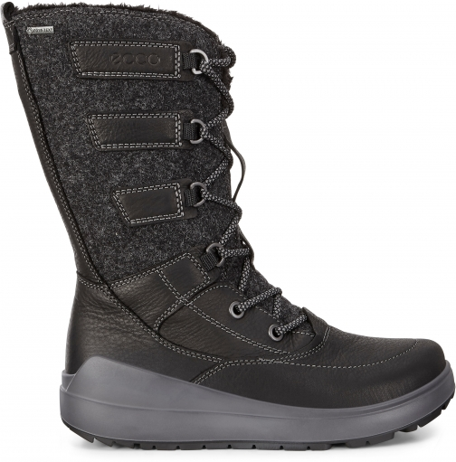 Ecco Womens Noyce Gtx High Size 4-4.5 Black Boot