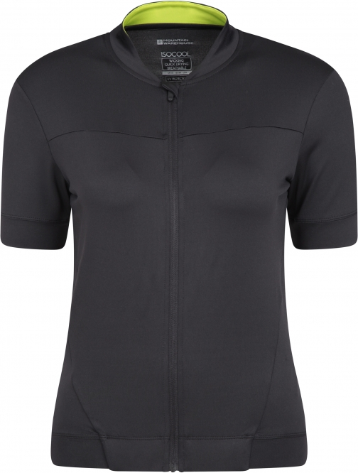 Mountain Warehouse Pro IsoCool Womens Cycling Jersey - Black Top