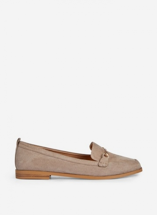 Dorothy Perkins Taupe 'Luna' Loafers Shoes