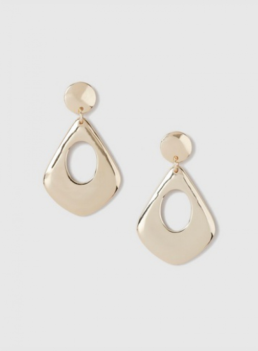 Dorothy Perkins Gold Smooth Metal Drop Earring