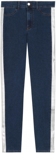 Calzedonia - Metallic Side Band Push-up And Soft Touch , S SHORT, Blue, Women Jeans