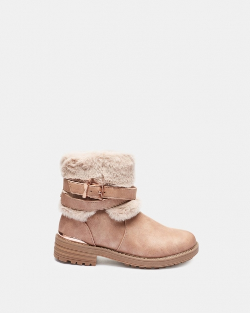Ted Baker Faux Fur Trim Ankle Boot
