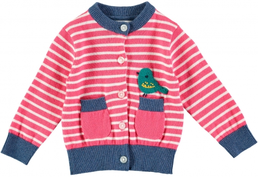 House Of Fraser Rockin' Baby Girls Bird Stripe Cardigan