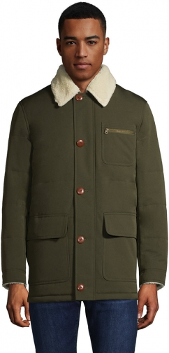 Lands' End Men's Sherpa Lined Barn Coat - Lands' End - Green - S Jacket