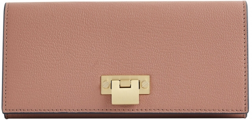 Reiss Parker - Leather Lock Closure Rosewood, Womens Wallet