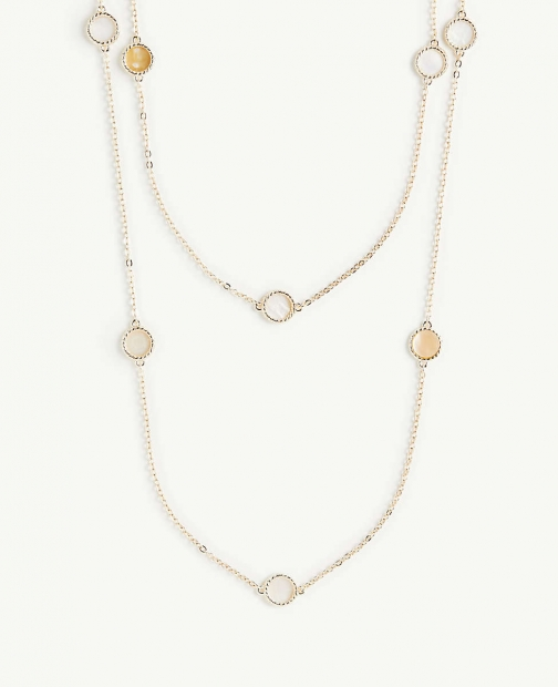 Ann Taylor Pearlized Station Necklace