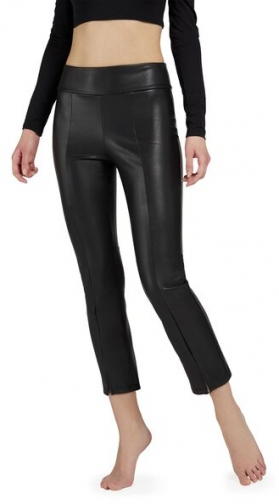 Calzedonia Thermal Leather-Look Woman Black Size L Legging