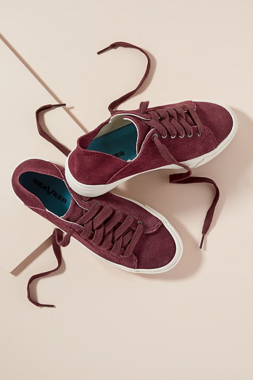 Anthropologie SeaVees Suede - Purple, Size Trainer