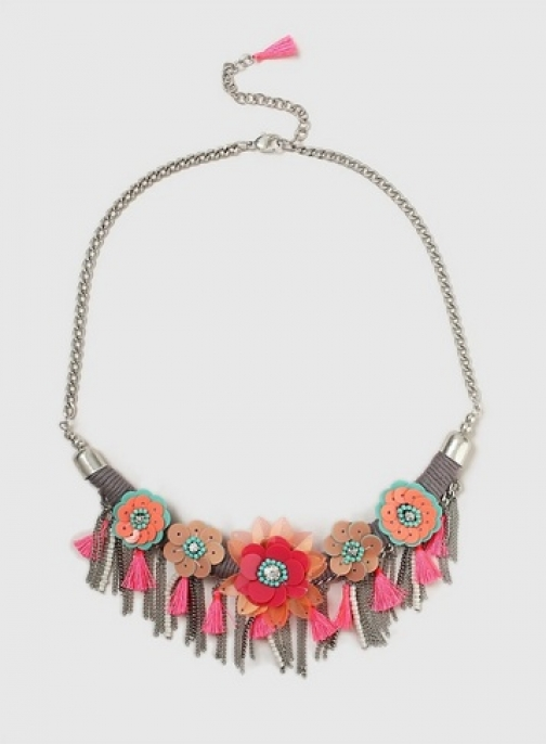 Dorothy Perkins Multi Coloured Sequin Flower Collar Necklace