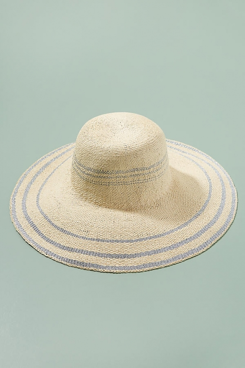 Anthropologie Daina Striped Floppy Hat