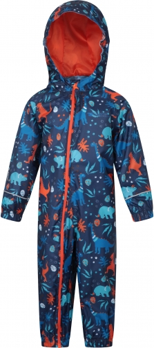 Mountain Warehouse Puddle Kids Printed Waterproof Rain - Orange Suit