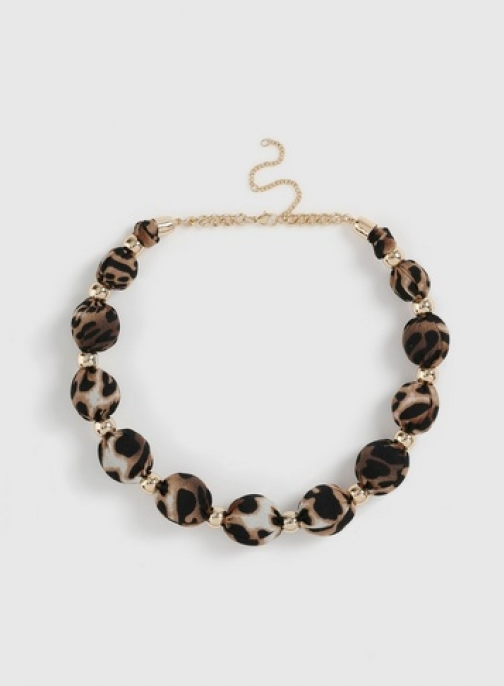 Dorothy Perkins Multi Colour Animal Print Bead Necklace