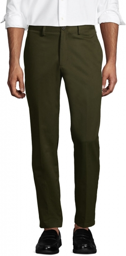 Lands' End Men's Tailored Fit No Iron Pants - Lands' End - Green - 30 Chino