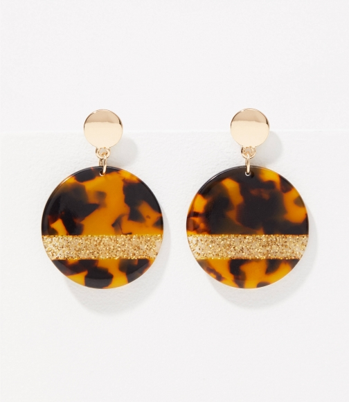 Loft Glitter Resin Drop Earring