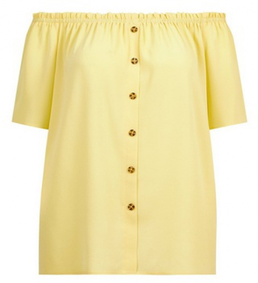 Dorothy Perkins Dp Curve Lemon Bardot Top