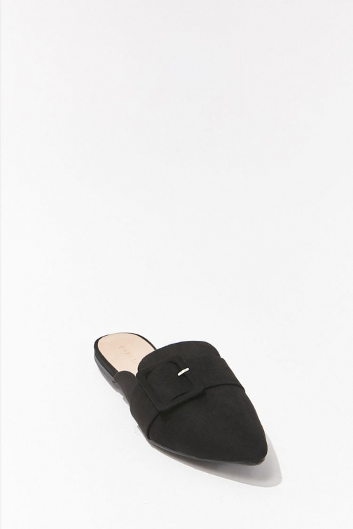Forever21 Forever 21 Pointed Toe Mules , Black Shoes
