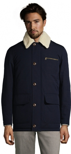 Lands' End Men's Sherpa Lined Barn Coat - Lands' End - Blue - S Jacket