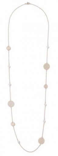 Dorothy Perkins Womens Pink Filigree Stone - Pink, Pink Necklace