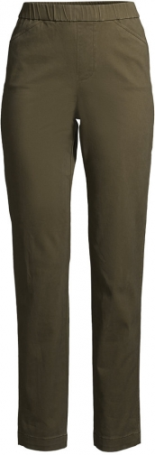 Lands' End Women's Mid Rise Pull On Ankle Pants - Lands' End - Green - 2 Chino