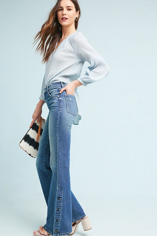 Anthropologie Pilcro High-Rise - Blue, Size Bootcut Jeans