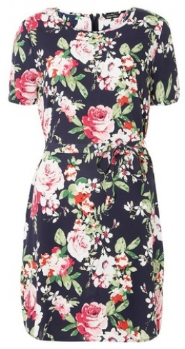 Dorothy Perkins Womens **Only Navy Floral Print Shift - Navy, Navy Dress