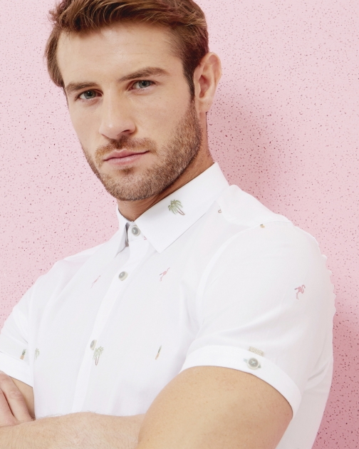 Ted Baker Embroidered Cotton Shirt