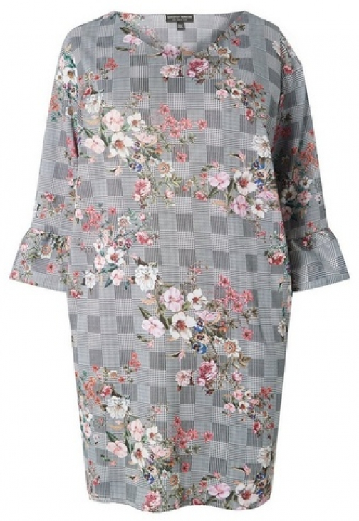 Dorothy Perkins Womens **DP Curve Multi Coloured Floral Print Shift - Fl Multi, Fl Multi Dress