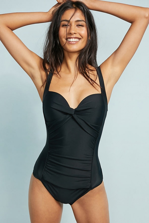 Anthropologie Mar Chiquita Twisted Plunge Swimsuit