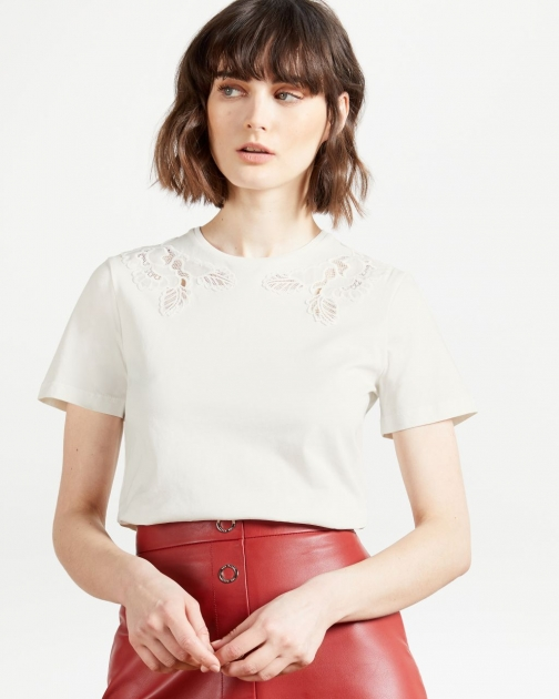 Ted Baker Lace Inserted Relaxed Tee T-Shirt