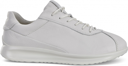 Ecco Womens Aquet Lace Sneakers Size 4-4.5 White Trainer
