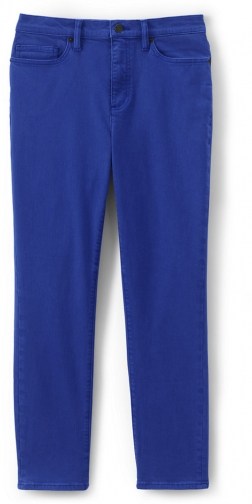 Lands' End Women's High Rise Straight Leg Ankle Crop - Color - Lands' End - Blue - 2 Jeans