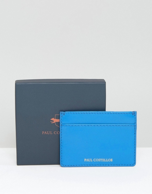 Paul Costelloe Leather Card Holder Turquoise Accessorie