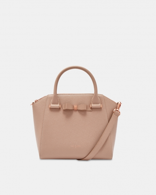 Ted Baker Bow Detail Zipped Leather Bag Tote