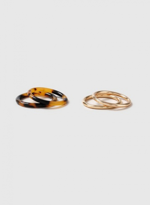 Dorothy Perkins Brown Pack Of 4 Band Ring