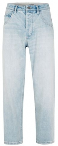 Topman Mens TOPMAN DESIGN Bleach Wash Blue Wide Leg , Blue Jeans
