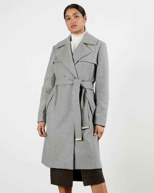 Ted Baker Mac Detail Wool Coat Jacket