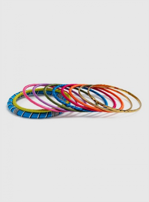 Dorothy Perkins Multi Coloured Fabric Bangles Jewellery